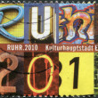 GERMANY - CIRCA 2010: A stamp printed in Germany, is dedicated to Ruhr-Cultural Capital of Europe 2010, circa 2010 - Stock Photo