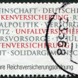 Stock Photo: GERMANY - CIRC2011: stamp printed in Germany, dedicated to 100 Years Of Imperial Assurance Order, circ2011