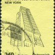 AUSTRIA - CIRCA 2011: A stamp printed in Austria, shows the Austrian Cultural Forum New York, a sketch Rainer Prohaska, circa 2011 — Stock Photo