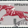 BULGARIA - CIRCA 1965: A stamp printed in Bulgaria, depicted Show jumping, circa 1965 — Stock Photo