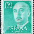 SPAIN-CIRCA 1956: A stamp printed in the Spain, shows Gen. Francisco Franco, circa 1956 — Stock Photo