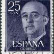 SPAIN-CIRCA 1955: A stamp printed in the Spain, shows Gen. Francisco Franco, circa 1955 — Stock Photo #11974719