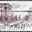 SPAIN - CIRCA 1974: A stamp printed in Spain, shows a Roman theatre (Merida), circa 1974 — Stock Photo