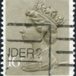 Royalty-Free Stock Photo: UNITED KINGDOM - CIRCA 1983: A stamp printed in England, shows the Queen Elizabeth II, circa 1983