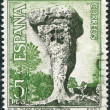 SPAIN - CIRCA 1967: A stamp printed in Spain, shows a Ciudad Encantada (Enchanted City), Cuenca, circa 1967 - Stock Photo