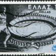 GREECE - CIRCA 1981: A stamp printed in Greece, dedicated to the 13th European Athletic Championship, Athens, shows a Runner, Olympic Stadium, Kalogreza, circa 1981 — Stock Photo