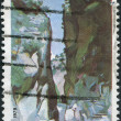 GREECE - CIRCA 1979: A stamp printed in Greece, shows Samarias Gorge, circa 1979 — Stock Photo