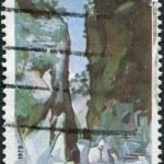 GREECE - CIRCA 1979: A stamp printed in Greece, shows Samarias Gorge, circa 1979 — Stock Photo