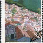 GREECE - CIRCA 1979: A stamp printed in Greece, shows the island of Samothrace, circa 1979 — Stock Photo