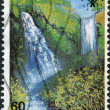 GREECE - CIRCA 1988: A stamp printed in Greece, shows Edessa Waterfalls, circa 1988 — Stock Photo #11975123