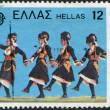 GREECE - CIRCA 1981: A stamp printed in Greece, shows Kira Maria Folk Dance, Alexandria, circa 1981 — Stock Photo #11975141