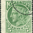 CRETE - CIRCA 1900: Postage stamps printed in Crete, shows ancient Greek goddess Hera, circa 1900 — Stock Photo