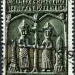 GREECE - CIRCA 1966: Postage stamps printed in Greece, shows Icon (Sts. Constantine and Helena), circa 1966 - Stock Photo