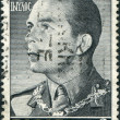 GREECE - CIRC1956: Postage stamps printed in Greece, shows King Paul I, circ1956 — Stock Photo #11975406