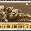 GREECE - CIRCA 1984: Postage stamps printed in Greece, dedicated to the Marble from the Parthenon, shows Hestia, Dione, Aphrodite, circa 1984 — Stock Photo #11975437