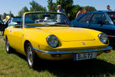 "PAAREN IM GLIEN, GERMANY - MAY 26: Fiat 850 Spider, ""The oldtimer show"" in MAFZ, May 26, 2012 in Paaren im Glien, Germany — 图库照片"