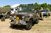 "PAAREN IM GLIEN, GERMANY - MAY 26: Car Willys M38A1 US Army Jeep, ""The oldtimer show"" in MAFZ, May 26, 2012 in Paaren im Glien, Germany — Stock Photo"