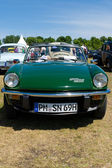 """PAAREN IM GLIEN, GERMANY - MAY 26: Cars Triumph Spitfire 1500, """"The oldtimer show"""" in MAFZ, May 26, 2012 in Paaren im Glien, Germany — Stockfoto"""