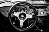 """Paaren im glien, německo - 26. května: kabina vozu triumph spitfire 1500 (černá a bílá), """"oldtimer show"""" v mafz, květen 26, 2012 v paaren im glien, německo — Stock fotografie"""