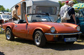 """PAAREN IM GLIEN, GERMANY - MAY 26: Car Triumph Spitfire Mark IV, """"The oldtimer show"""" in MAFZ, May 26, 2012 in Paaren im Glien, Germany — Stockfoto"""
