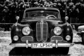 """PAAREN IM GLIEN, GERMANY - MAY 26: The BMW 501 (Black and White), """"The oldtimer show"""" in MAFZ, May 26, 2012 in Paaren im Glien, Germany — Stock Photo"""