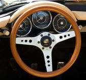 "PAAREN IM GLIEN, GERMANY - MAY 26: Cab car Porsche 356 Speedstep, ""The oldtimer show"" in MAFZ, May 26, 2012 in Paaren im Glien, Germany — Stock Photo"