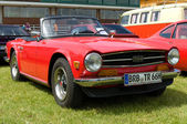 """PAAREN IM GLIEN, GERMANY - MAY 26: Car Triumph TR6, """"The oldtimer show"""" in MAFZ, May 26, 2012 in Paaren im Glien, Germany — Stock Photo"""