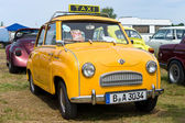 """PAAREN IM GLIEN, GERMANY - MAY 26: Car Taxis, Glas Goggomobil 250, """"The oldtimer show"""" in MAFZ, May 26, 2012 in Paaren im Glien, Germany — Foto Stock"""
