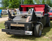 """PAAREN IM GLIEN, GERMANY - MAY 26: Homemade car is unusual, """"The oldtimer show"""" in MAFZ, May 26, 2012 in Paaren im Glien, Germany — Stock Photo"""
