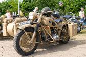 "PAAREN IM GLIEN, GERMANY - MAY 26: Military Motorcycles BMW R75, ""The oldtimer show"" in MAFZ, May 26, 2012 in Paaren im Glien, Germany — 图库照片"