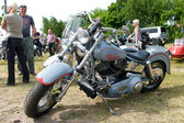 """PAAREN IM GLIEN, GERMANY - MAY 26: Motorcycle Harley-Davidson, """"The oldtimer show"""" in MAFZ, May 26, 2012 in Paaren im Glien, Germany — Stock Photo"""