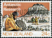 NEW ZEALAND - CIRCA 1984: Postage stamps printed in New Zealand, shows Antarctic Research, Geology, circa 1984 — Stock Photo