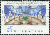 NEW ZEALAND - CIRCA 1990: Postage stamps printed in New Zealand, shows Legend of Rangi and Papa, circa 1990 — Stock Photo