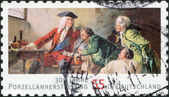 GERMANY - CIRCA 2010: A stamp printed in Germany, is dedicated to the 300th anniversary of porcelain production in Germany, circa 2010 — Stock Photo