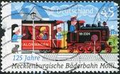 GERMANY - CIRCA 2011: A stamp printed in Germany, dedicated to 125 years of Mecklenburg Spa Railway, circa 2011 — Stock Photo