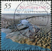 GERMANY - CIRCA 2004: A stamp printed in Germany, shows Wattenmeer National Park, circa 2004 — Stok fotoğraf