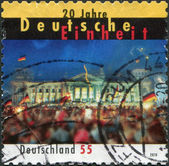 GERMANY - CIRCA 2010: A stamp printed in Germany, is dedicated to the 20th anniversary of the reunification of Germany, circa 2010 — Stock Photo