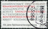 GERMANY - CIRCA 2011: A stamp printed in Germany, dedicated to 100 Years Of Imperial Assurance Order, circa 2011 — Foto Stock