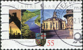 GERMANY - CIRCA 2007: A stamp printed in Germany, is dedicated to the 50th anniversary of Admission of Saarland into Federal Republic, circa 2007 — Stock Photo