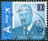 BELGIUM - CIRCA 2009: A stamp printed in Belgium, shows Albert II of Belgium, circa 2009 — Stock Photo