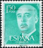 SPAIN-CIRCA 1956: A stamp printed in the Spain, shows Gen. Francisco Franco, circa 1956 — Stock Photo