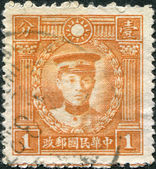 CHINA - CIRCA 1932: A stamp printed in China (Taiwan), depicts General Chen Qimei, circa 1932 — Foto de Stock