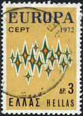 GREECE - CIRCA 1972: Postage stamps printed in Greece, shows stars, circa 1972 — Stockfoto