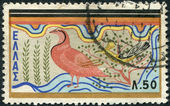 GREECE - CIRCA 1961: Postage stamps printed in Greece, shows Minoan Art: Partridge and Fig Pecker from the palace of Knossos, Crete, circa 1961 — Stock Photo