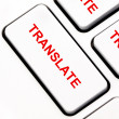 Stock Photo: Translate keyboard key