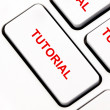 Tutorial keyboard key — 图库照片 #11949676