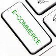 Stock Photo: E-commerce button on keyboard