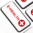Stock Photo: E-health button on keyboard