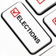 Elections button on keyboard — Stock Photo
