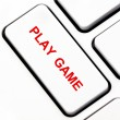 Play game button on keyboard — Stock Photo #11952370